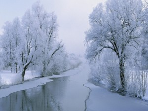 Un río en invierno