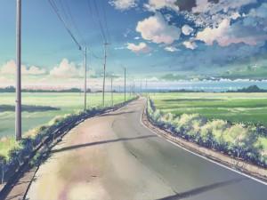 Paisaje de campo y carretera