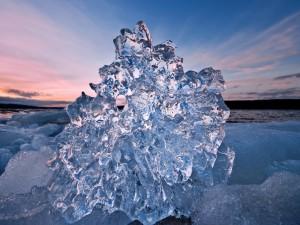 Un bonito bloque de hielo