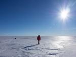 Caminando en un paraje helado