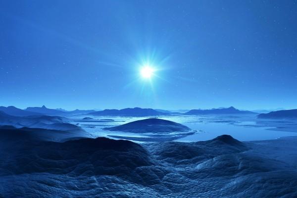 Bonito cielo en un paraje solitario