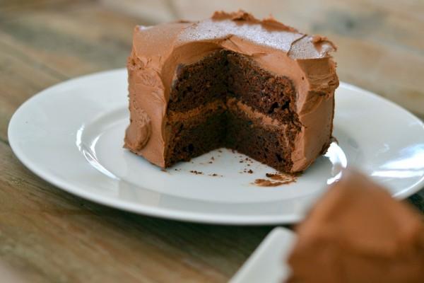 Pequeña tarta de chocolate