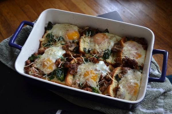 Huevos gratinados al horno