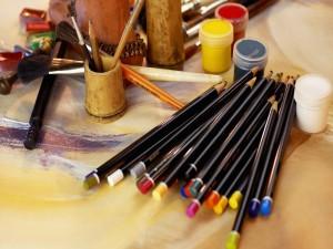 Postal: Herramientas de un artista