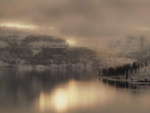 Postal: Niebla al amanecer