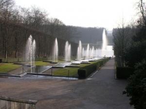 Postal: Fuentes en el Parque de Sceaux (Francia)