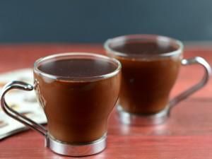 Postal: Chocolate caliente en pequeñas dosis