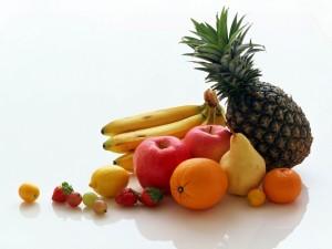 Frutas de varios tamaños