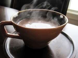 Taza de chocolate bien caliente