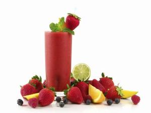 Un delicioso batido de fresas