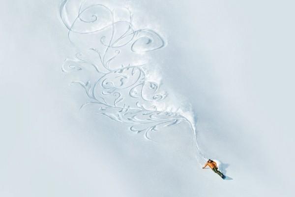 Dibujo en la nieve