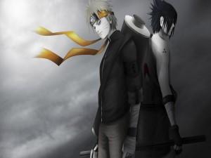 Naruto Uzumaki y Sasuke Uchiha