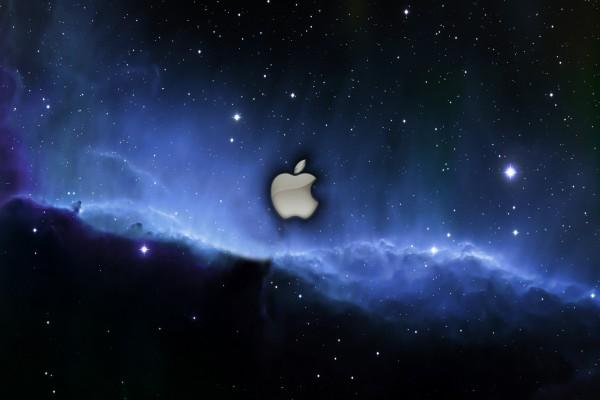Logo de Apple en el espacio