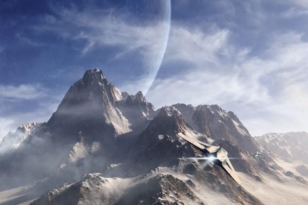 Naves espaciales en otro planeta