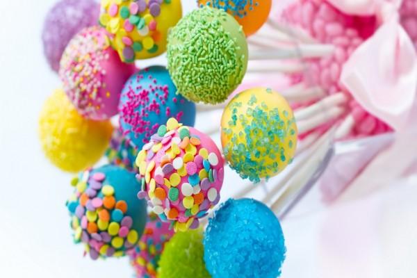 Coloridos cake pops
