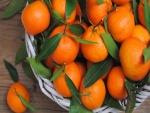 Cesta con mandarinas