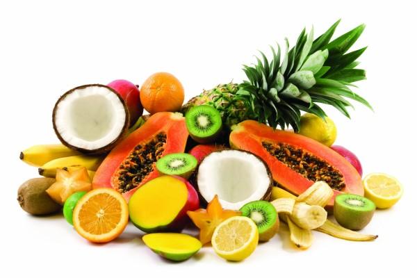 Variedad de ricas frutas tropicales