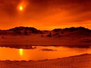 El sol coloreando el paisaje