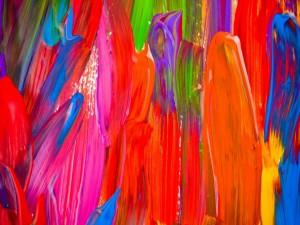 Pinceladas de pintura de varios colores