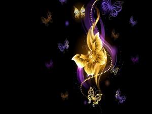 Mariposas diseñadas en varios colores y tamaños