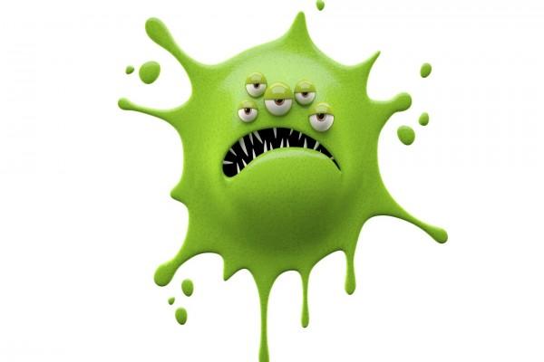 Divertido monstruo en 3D color verde