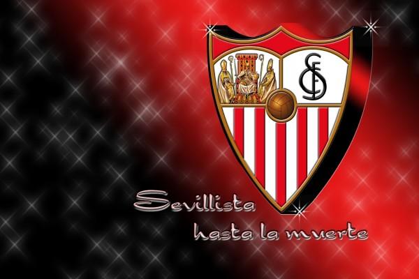 """Escudo Sevilla F.C. """"Sevillista hasta la muerte"""""""