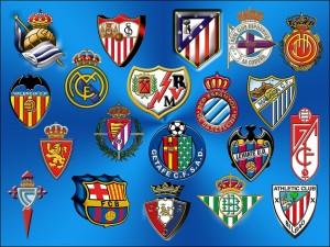 Postal: Escudos de la Liga Española de Fútbol