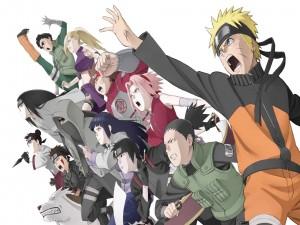Postal: Personajes de Naruto