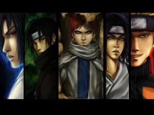 Caras de algunos personajes de Naruto