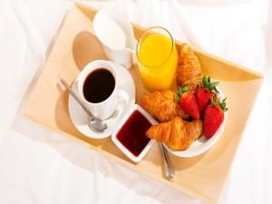 Postal: Un exquisito desayuno