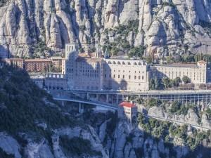 Postal: Vista del Monasterio de Montserrat (España)