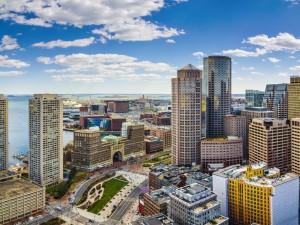 Vista parcial de la ciudad de Boston