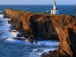 Postal: Faro de Cabo Arago