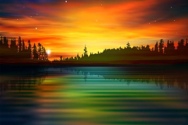 Nace el sol y se va reflejando en el agua