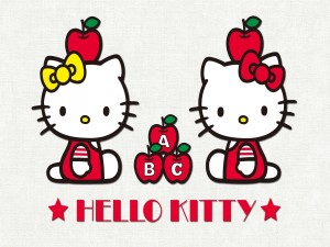 Hello Kitty con manzanas