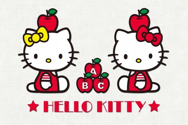 Hello Kitty con manzanas