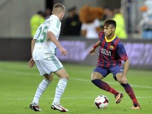 Postal: Neymar en un partido con el F.C. Barcelona