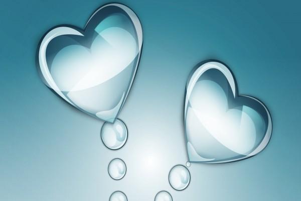 Corazones y burbujas