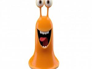 Babosa sonriente de color naranja