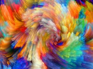 Pinceladas de variados colores