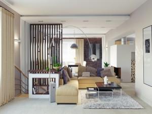 Postal: Elegante y moderna sala de estar