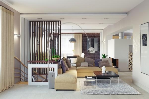 Elegante y moderna sala de estar