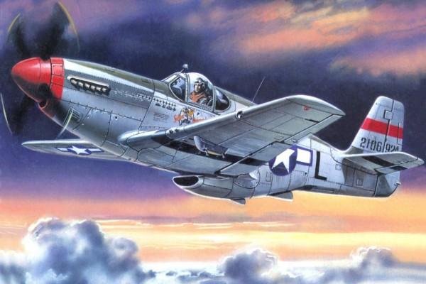 Un avión estadounidense: Mustang P-51C