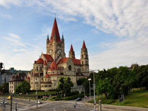 Postal: Iglesia San Francisco de Asís en Viena (Austria)