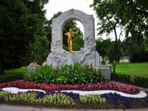 Postal: Estatua de Johann Strauss (Viena, Austria)