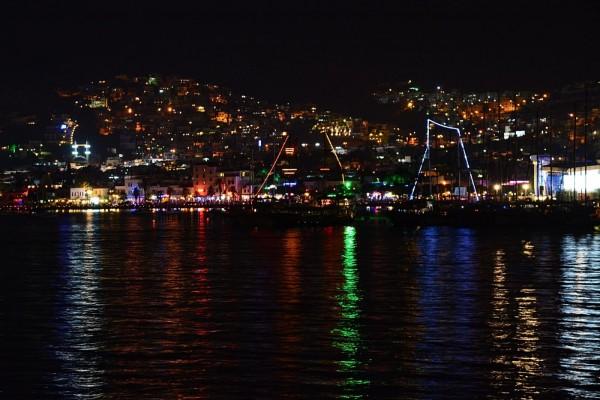 La noche en Bodrum (Turquía)