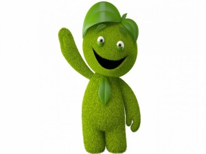 Muñeco verde en 3D