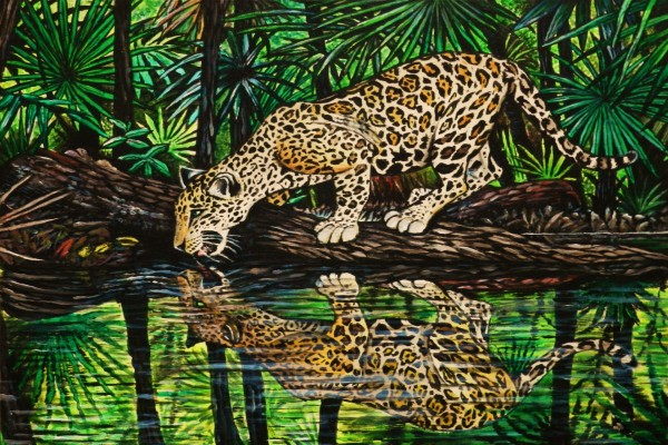 Jaguar junto al río