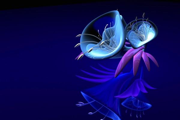 Hojas y flores de fantasía