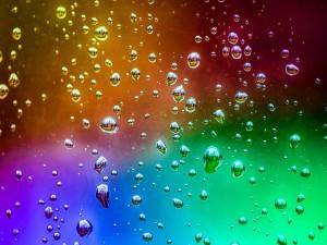Postal: Gotitas de agua sobre el cristal